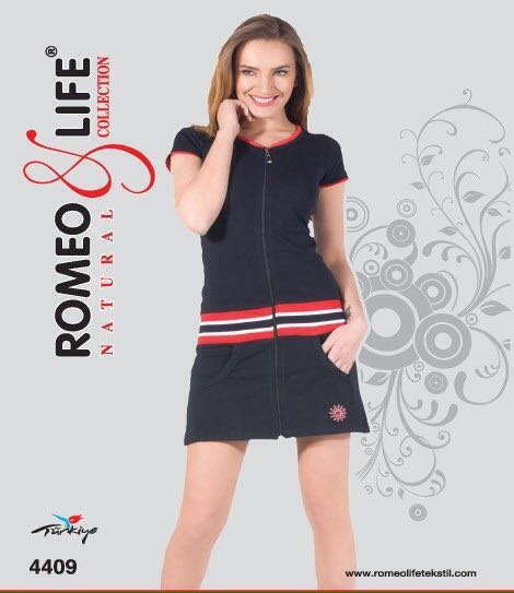 Халат женский трикотаж Romeo Life 4409