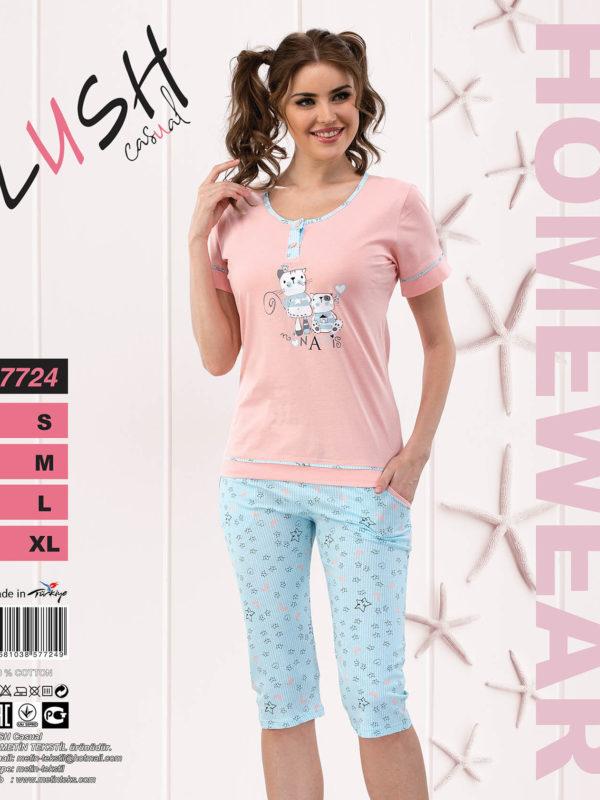 Пижама женская Капри LUSH 7724