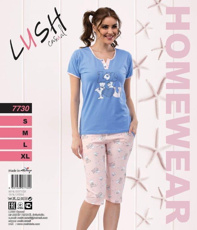 Пижама женская Капри LUSH 7730