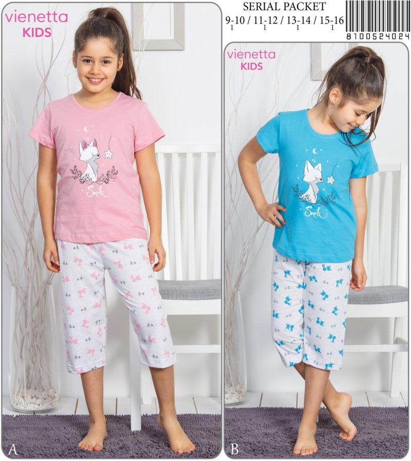Пижама детская капри 8100524024