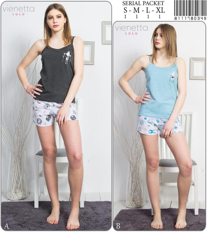Пижама женская Шорты 8111780349