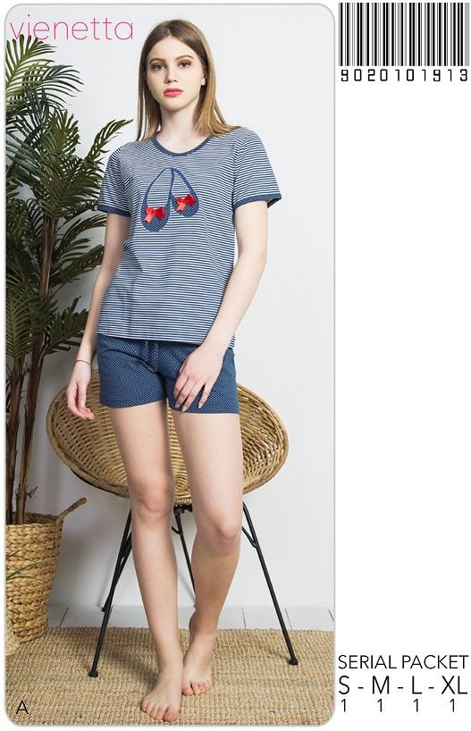 Пижама женская шорты 9020101913