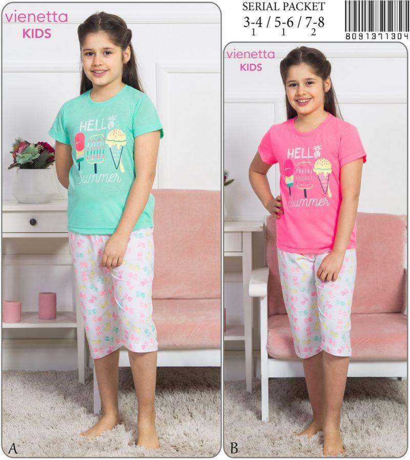Пижама детская капри 8091371304