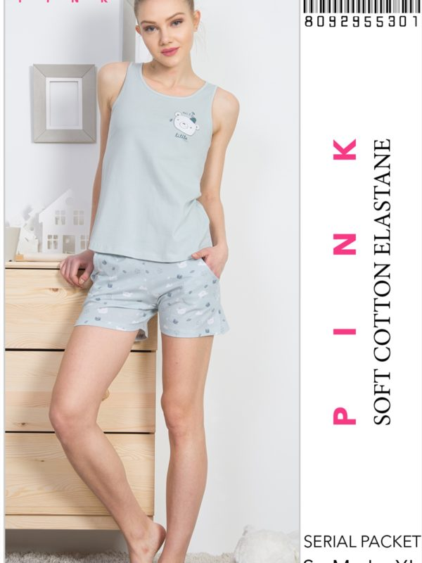 Пижама женская шорты 8092955301