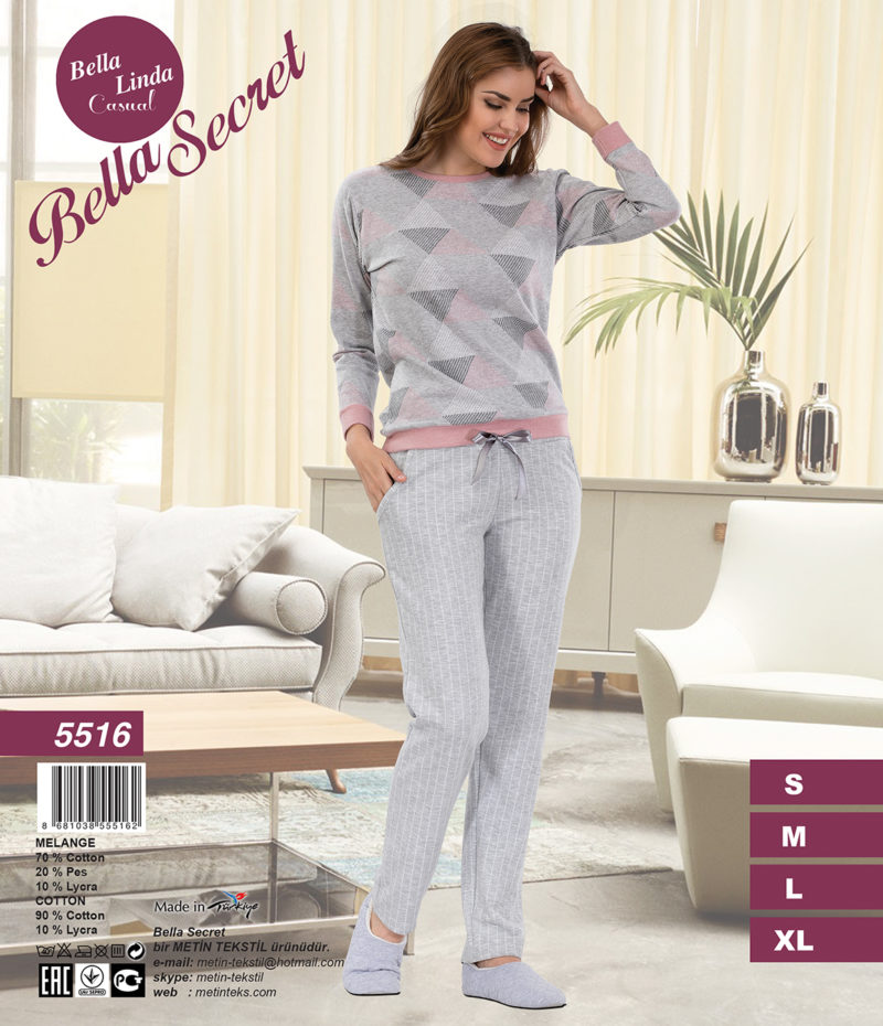 Пижама женская Брюки Metin 5516