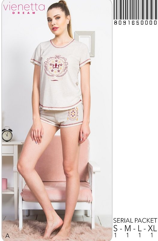 Пижама женская шорты 8091650000