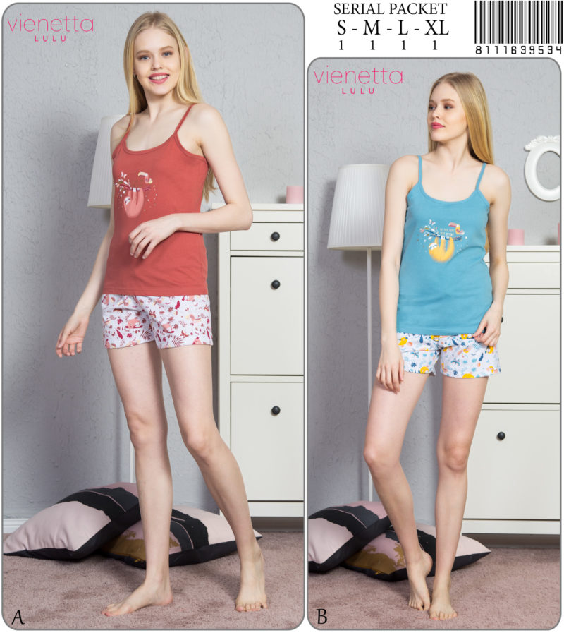 Пижама женская шорты 8111639534