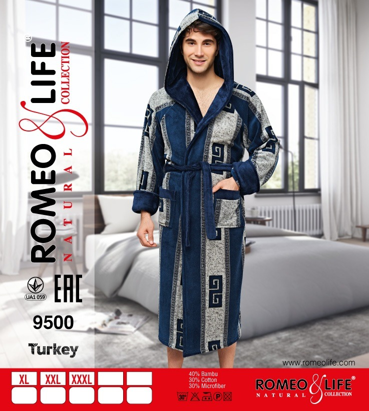 Халат мужской Romeo Life 9500