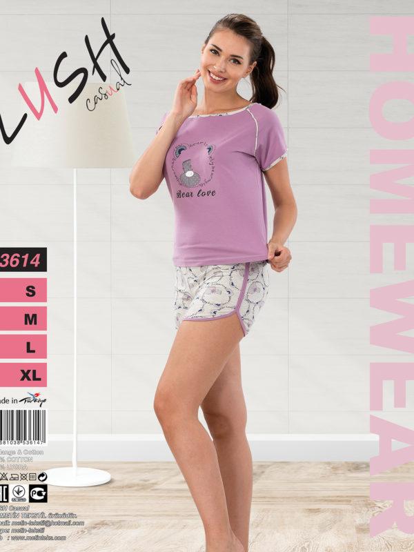 Пижама женская Шорты Lush 3614