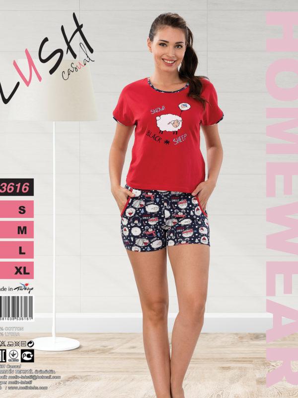 Пижама женская Шорты Lush 3616