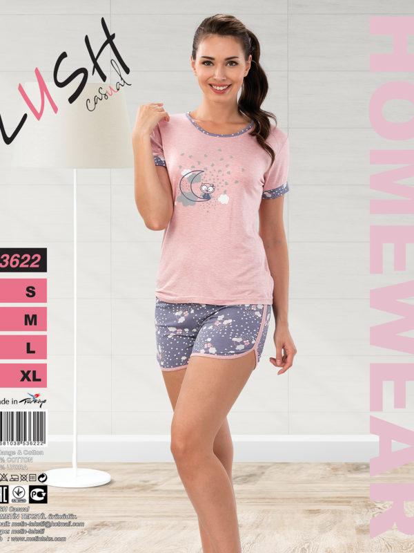 Пижама женская Шорты Lush 3622