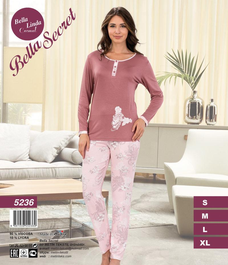 Пижама женская Брюки Metin 5236