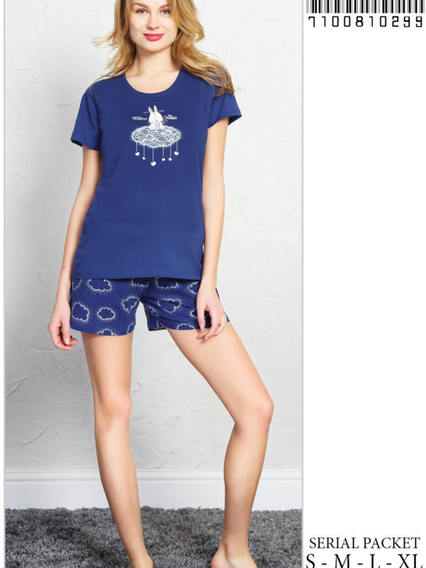 Пижама женская шорты 7100810299