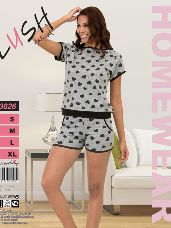 Пижама женская Шорты LUSH 3626