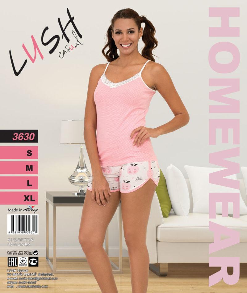 Пижама женская Шорты LUSH 3630