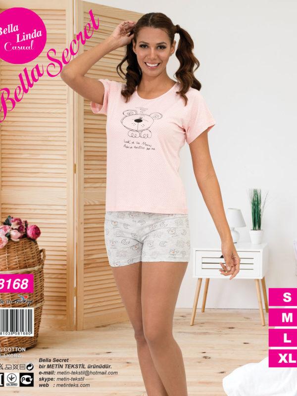 Пижама женская Шорты Metin 8168