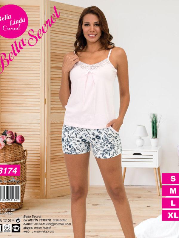 Пижама женская Шорты Metin 8174