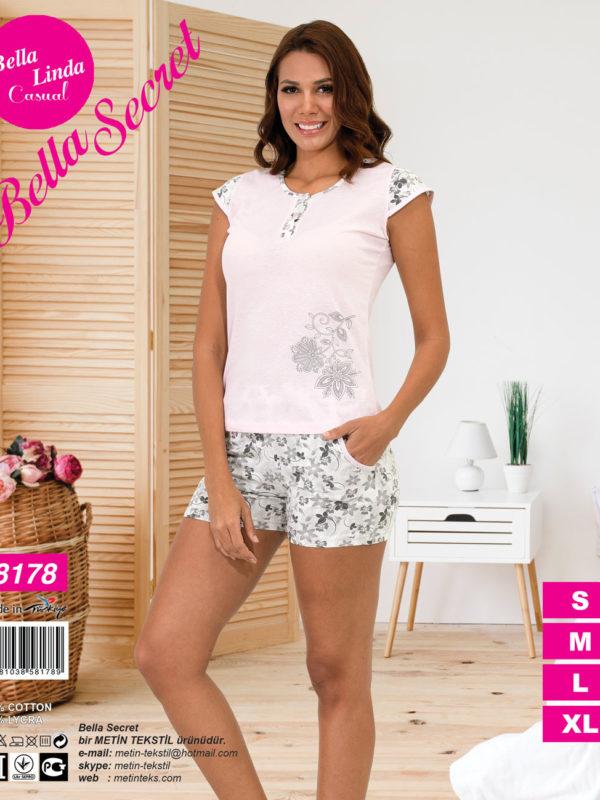 Пижама женская Шорты Metin 8178