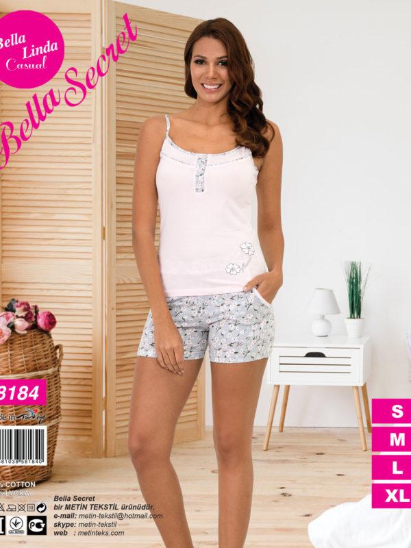 Пижама женская Шорты Metin 8184