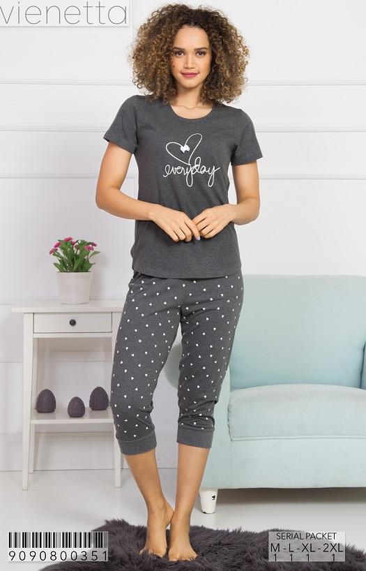 Пижама женская капри 9090800351