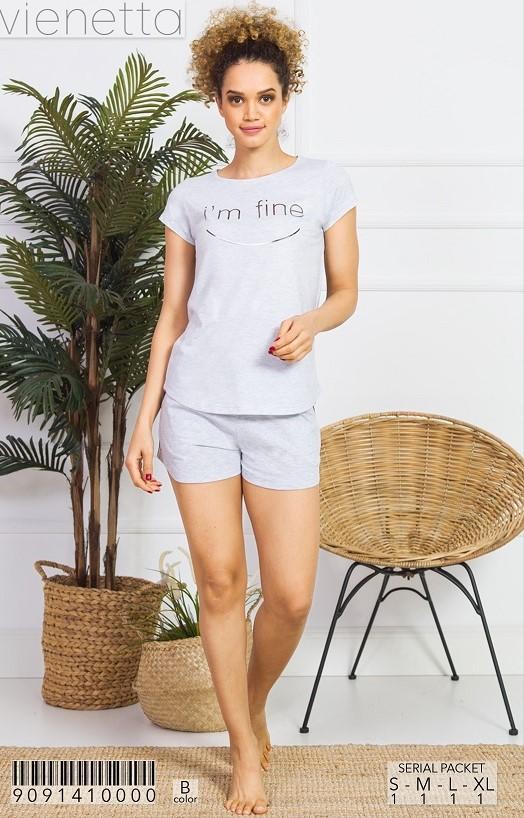 Пижама женская шорты 9091410000