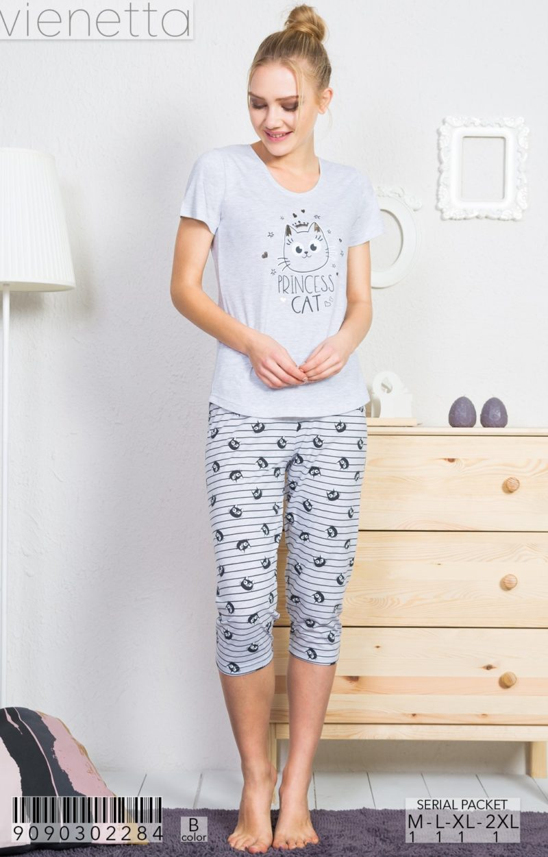 Пижама женская капри 9090302284