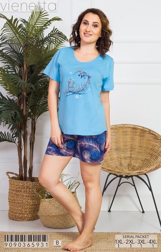 Пижама женская шорты 9090365931