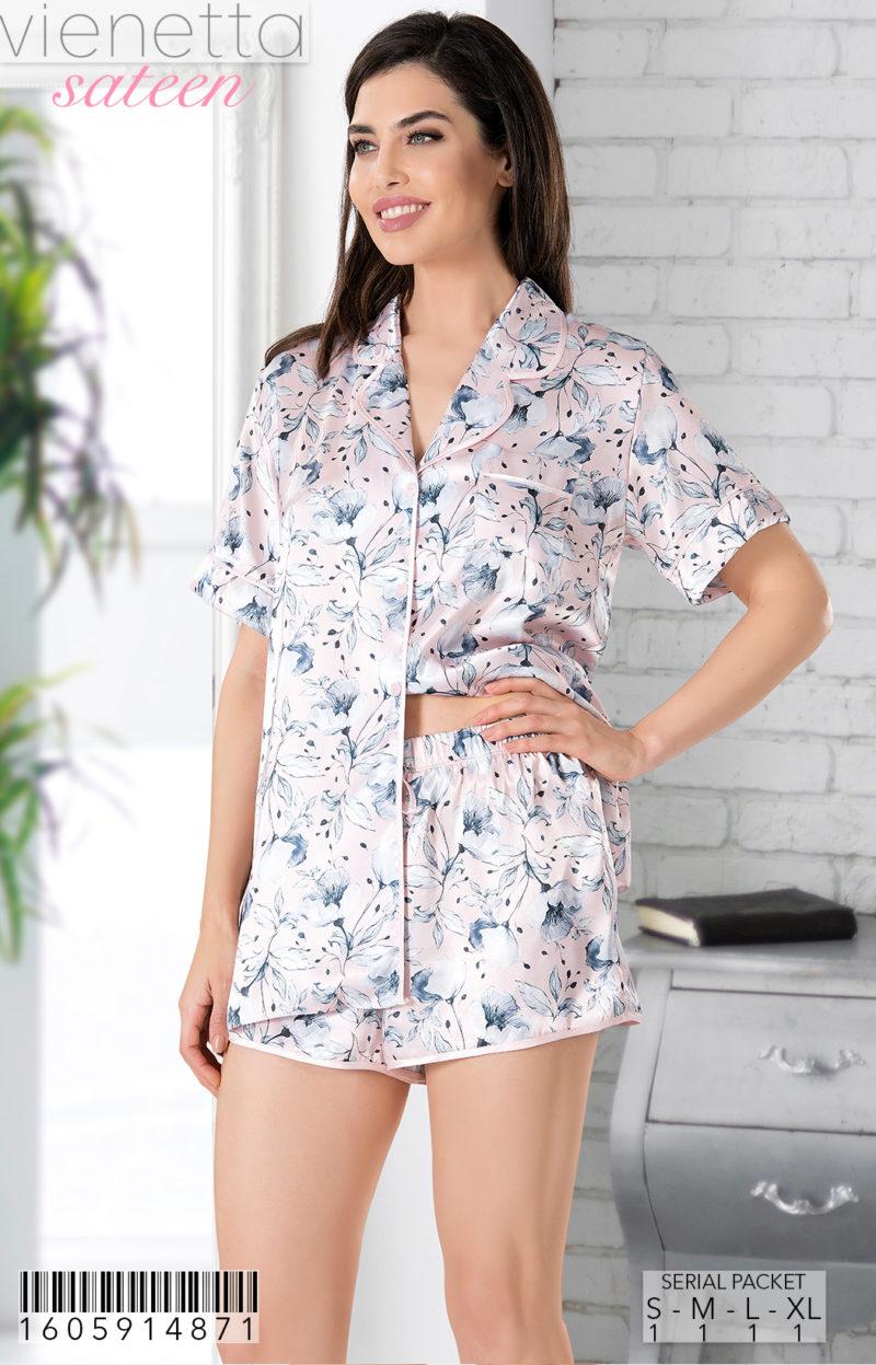 Пижама женская шорты 1605914871