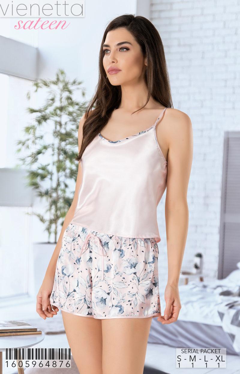 Пижама женская шорты 1605964876