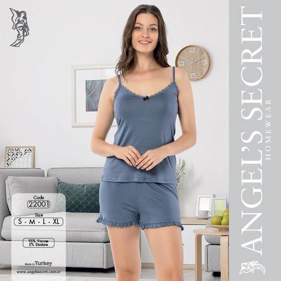 Пижама женская шорты 22001 M