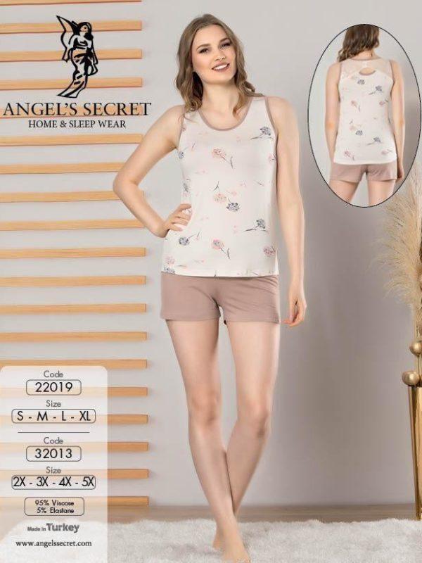 Пижама женская шорты 32013 E