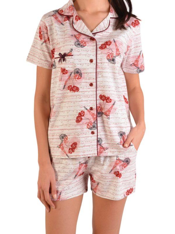 Пижама женская Шорты Nicoletta 80996