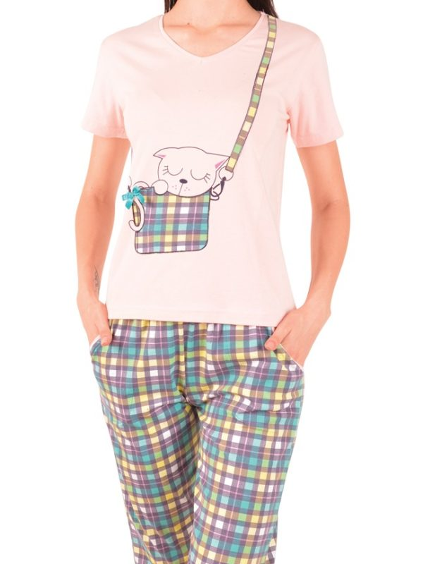 Пижама женская капри Nicoletta 82467
