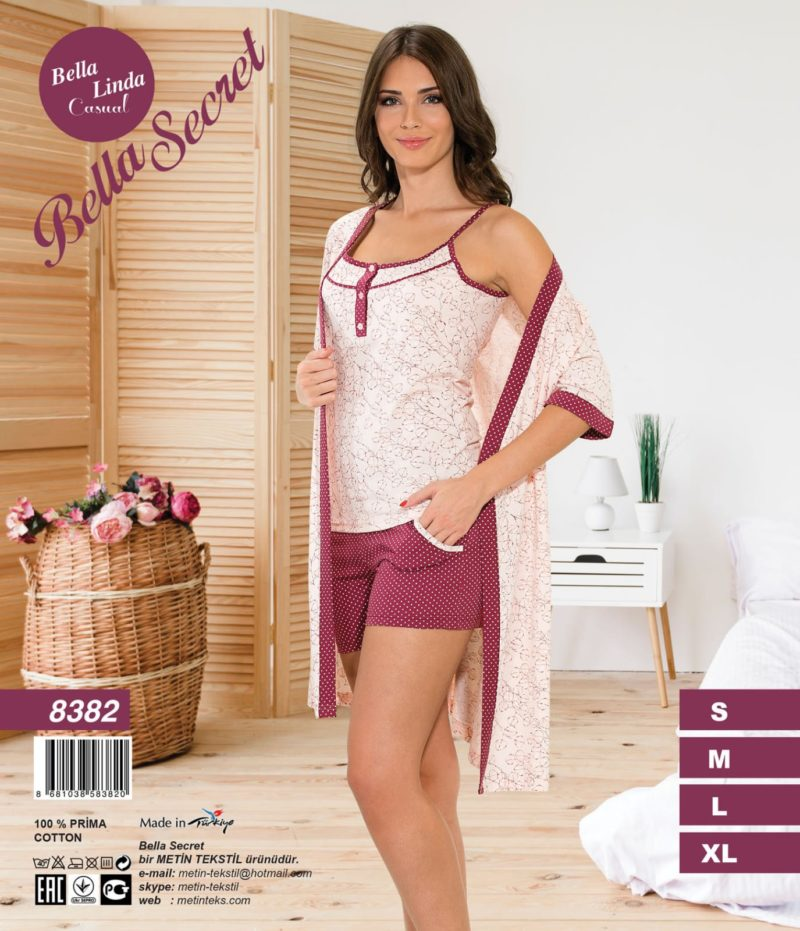 Набор халат пижама Metin 8382