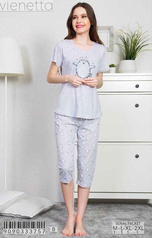 Пижама женская капри 9090333757