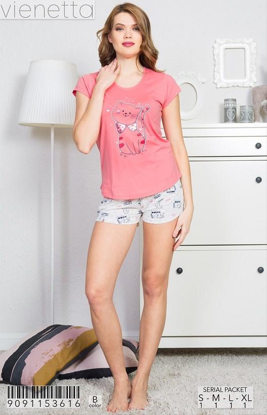 Пижама женская шорты 9091153616