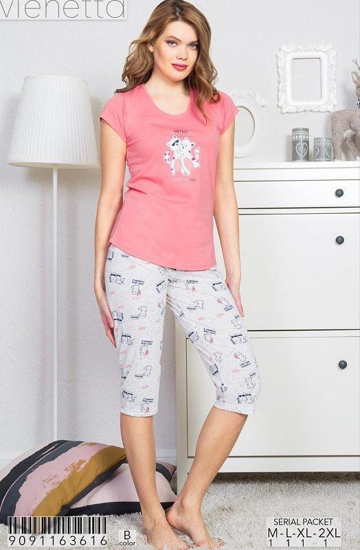 Пижама женская капри 9091163616