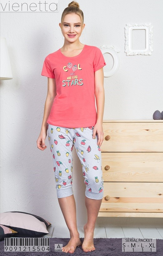 Пижама женская капри 9091215504