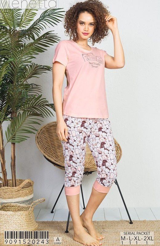 Пижама женская капри 9091520243