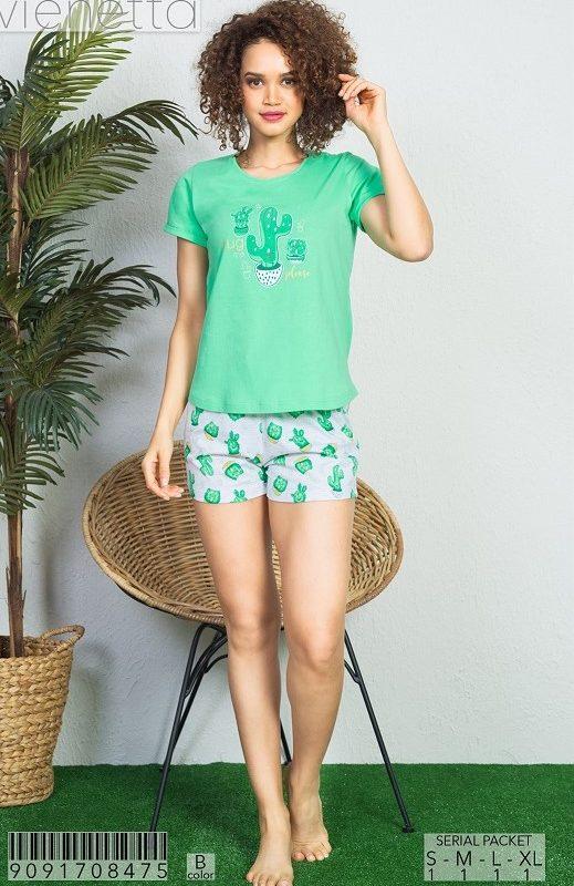 Пижама женская шорты 9091708475