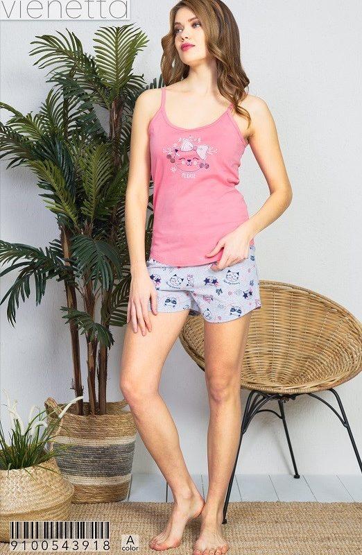 Пижама женская шорты 9100543918
