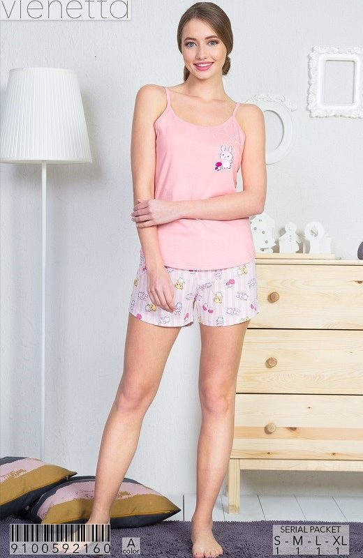 Пижама женская шорты 9100592160
