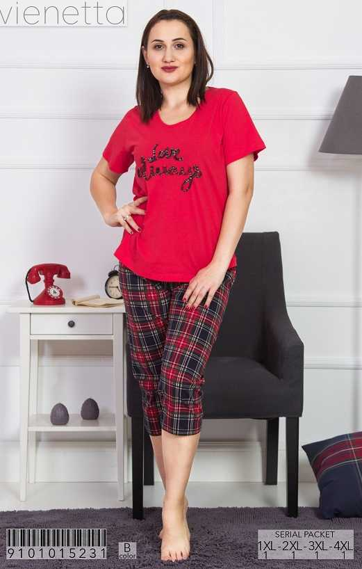 Пижама женская капри 9101015231