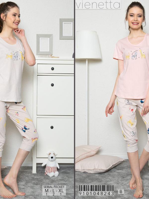 Пижама женская капри 9101048243