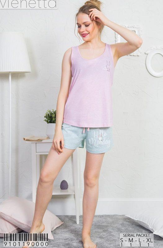 Пижама женская шорты 9101190000
