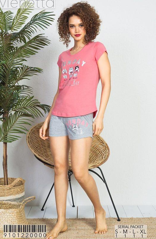 Пижама женская шорты 9101220000