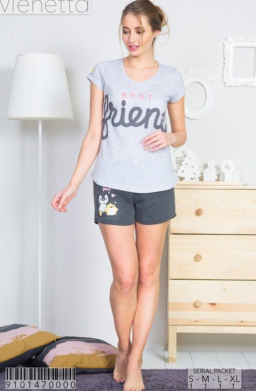 Пижама женская шорты 9101470000