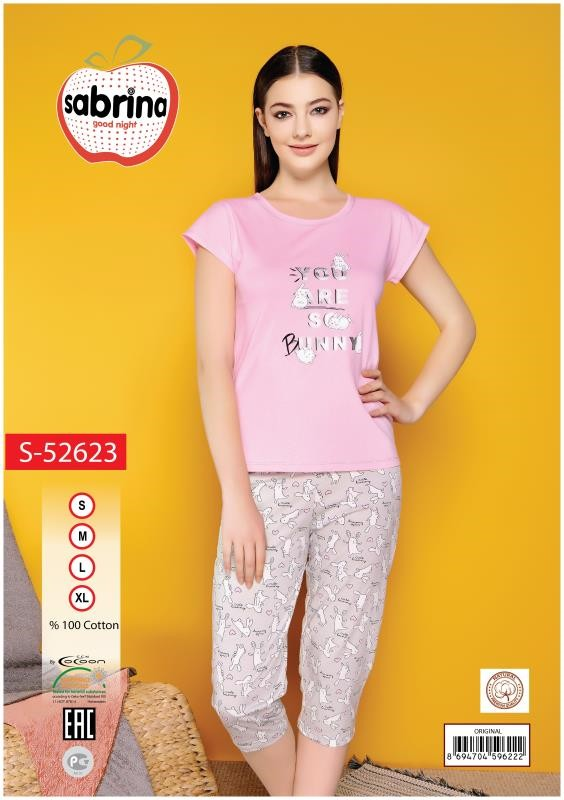 Пижама женская Капри SAB.S 52623