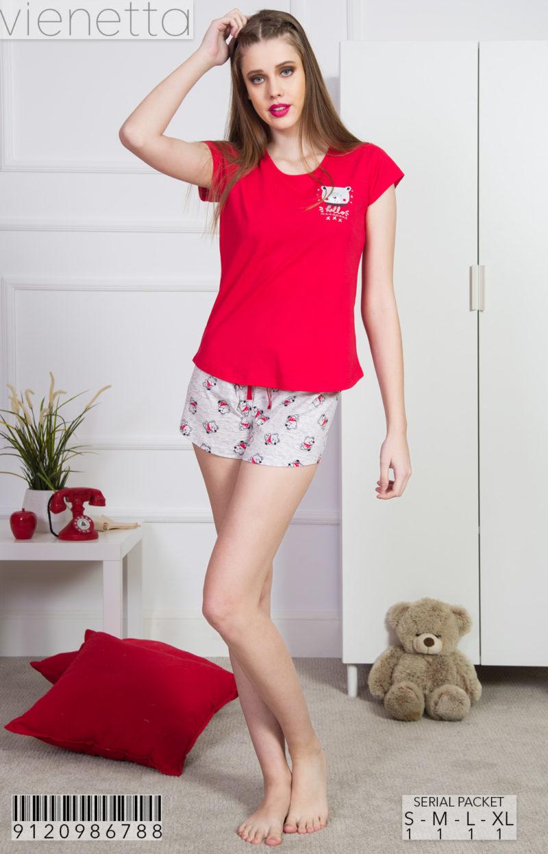Пижама женская шорты 9120986788